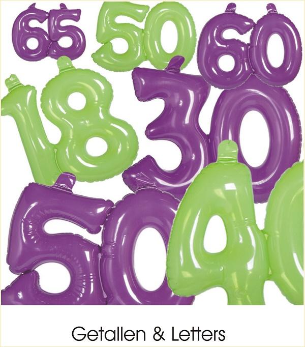 opblaas getallen letters