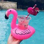 opblaasbare flamingo bekerhouder