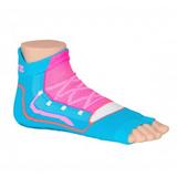 Antislip zwemsokken Sweakers blauw/roze maat 23-26_