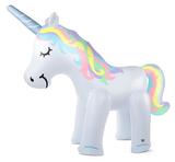 Grote Opblaas unicorn met sproeier 254x86x203cm_