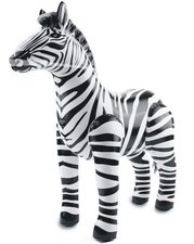 Opblaasbare zebra 60x55cm