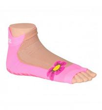 Antislip zwemsokken Sweakers roze flower maat 19-22