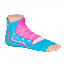 Antislip zwemsokken Sweakers blauw/roze maat 23-26