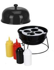 Sauzen bar voor de barbecue (zwart)