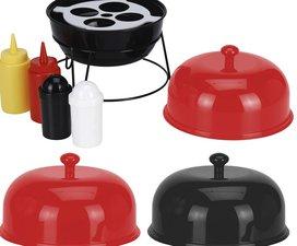 Sauzen bar voor de barbecue (rood)