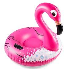 Flamingo zwemband met dichte bodem / snow tube