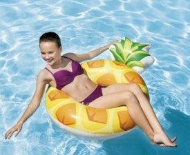 Opblaas ananas zwemband 117x86cm