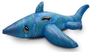Opblaasbare haai blauw