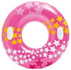 Zwemband met handvaten sterren roze (91cm)