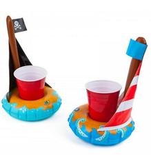 2 drankhouders opblaas piratenbootjes BigMouth