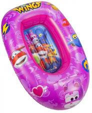 Opblaasbaar bootje kinderen Superwings roze