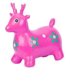 Skippy hert roze zithoogte 27cm