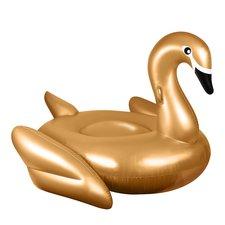 Opblaasbare zwaan goud 190x190cm