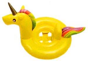 Baby zwemband unicorn geel