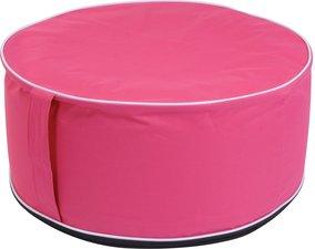 Opblaasbare poef roze