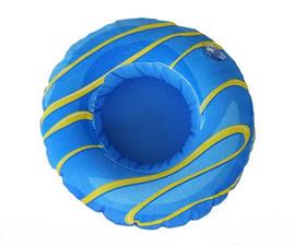 Opblaasbare bekerhouder donut blauw