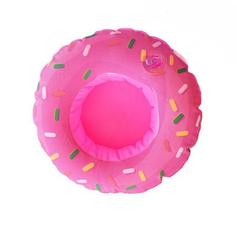 Opblaasbare bekerhouder donut roze