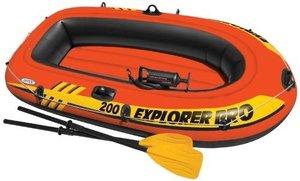 Opblaasbare boot voor kinderen Intex (incl. peddels en pomp) 196x102cm