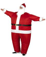 Opblaasbaar kerstman pak