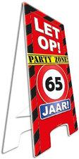 Party zone bord 65 jaar