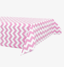 Papieren tafelkleed 120x180cm roze