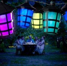 Feestverlichting buiten lantaarntjes