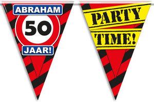Vlaggenlijn party zone Abraham 50 jaar