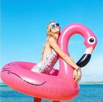 Opblaas flamingo zwemband doorsnee 120cm