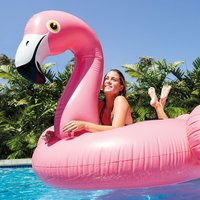 Mega opblaasbare flamingo 218x211x136cm