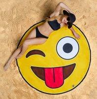 Strandlaken emoticon smiley doorsnee 150cm