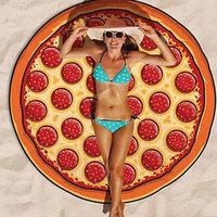 Strandlaken pizza doorsnee 150cm