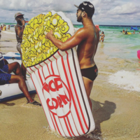 Luchtbed popcorn 170x114cm