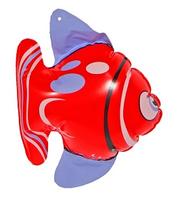 Opblaasbare vis rood