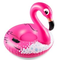 Opblaas flamingo snow tube (96x96x86cm)
