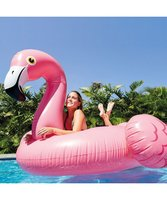 XL Opblaas flamingo 185x115cm