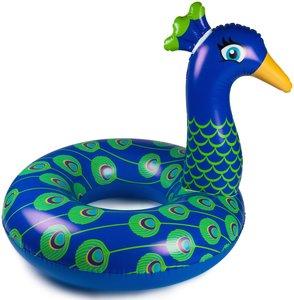 opblaas pauw zwemband