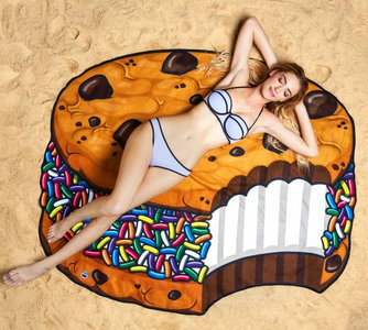 Strandlaken chocolade koekje doorsnee 150cm