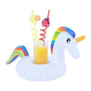 opblaas unicorn drank bekerhouder