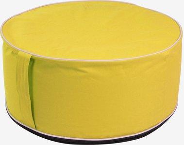 Opblaasbare poef geel