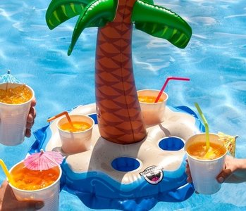 opblaas drankhouder palm eiland
