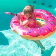 kleuterzwemband donuts roze